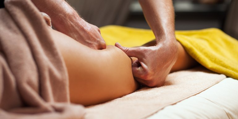 Anti cellulite massage for young woman in a luxury spa