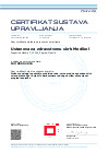 Certifikat sustava upravljanja